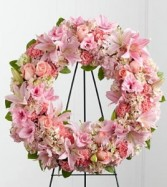 Wreath pink spray