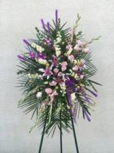 Pink Stargazer Lily & Lavender Standing Spray