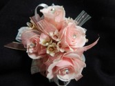 Pink Sweetheart Roses Corsage