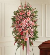 Pink Sympathy Standing Spray Funeral
