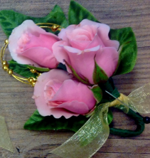 Pink Tea Rose Boutonniere