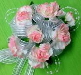 Pink Tinted Carnation Wrist Corsage