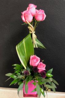 Pink Topiary Enchanted Rose Arrangement