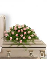 Pink Tranquility Casket Spray Sympathy Arrangement