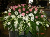 pink tranquility spray casket spray