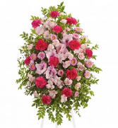 Pink Tribute Funeral Flower Delivery