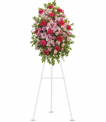 Pink Tribute Spray Standing Easel