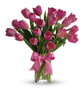 Pink Tulips Arrangement