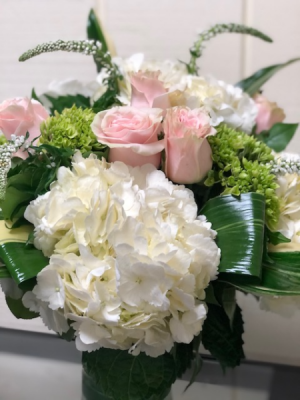 Pink Sea Breeze Vase Arrangement in Fairfield, CT | Blossoms at Dailey's Flower Shop
