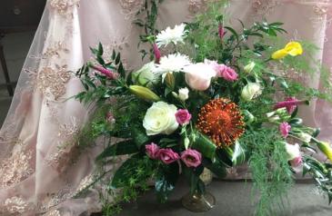 Pink Vibrations Vase Arrangement