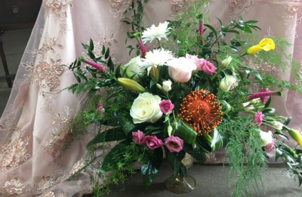 Pin Cushion Garden Vase Arrangement