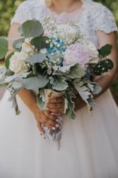 Pink, White & Blue Bridal Bouquet Wedding