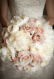 Pink & White Bridal Bouquet Wedding