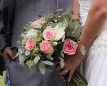 Pink & White  Bridal Bqt