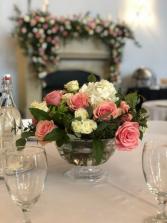 Pink & White Centerpiece Wedding
