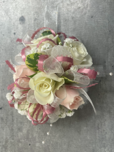 PINK & WHITE DELIGHT PROM CORSAGE