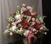 Pink & White Remembrance Sympathy Arrangement