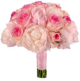 ROSE & PEONY BRIDAL BOUQUET