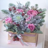 Pink winter box