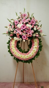 Pink wreath 1-25-11  in Norwalk, CA | Ana's Flowers