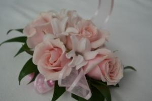 pink wrist corsage wrist corsage in Byfield, MA | Anastasia's Flowers on Main
