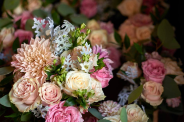 Pink/Blush/Cream Combo Wedding Bouquets
