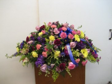 Pinks and Purples Casket Spray