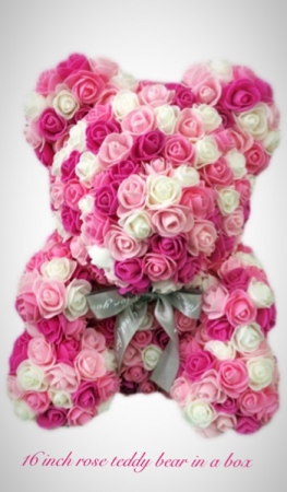 Pinks and whites rose bear  Rose bear