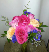 Pinks, Peach & Purples Bridal Bouquet