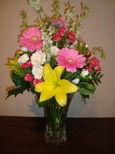 Spring mix vased arrangement in nashville tn bloom flowers gifts spring mix vased arrangement mightylinksfo