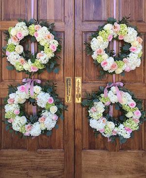 Pinky Greens Hydrangea Wreath in Stonewall, MB | STONEWALL FLORIST