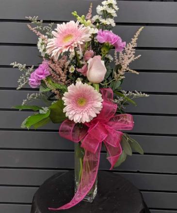 Pinky Promise Vase Fresh Arrangment