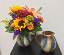 Pitcher Full of Fall Keepsake Arrangement
