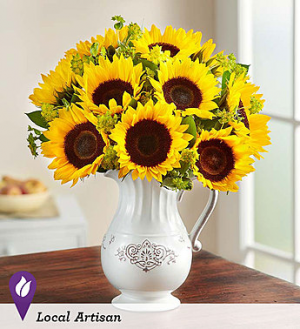 Pitcher Full of Sunflowers  in Orlando, FL | Artistic East Orlando Florist