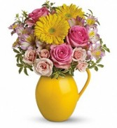 Sunny Pitcher of Charm Floral Bouquet