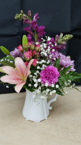 Pitcher Perfect Mom Arrangement Centerpiece