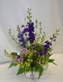 PITCHER PERFECT PURPLE Flower Arrangement