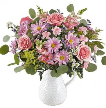 Pitcher Prefect Vase Arrangement