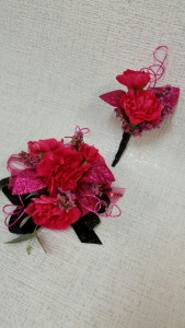 Pixy Carnation Corsage and Boutonniere