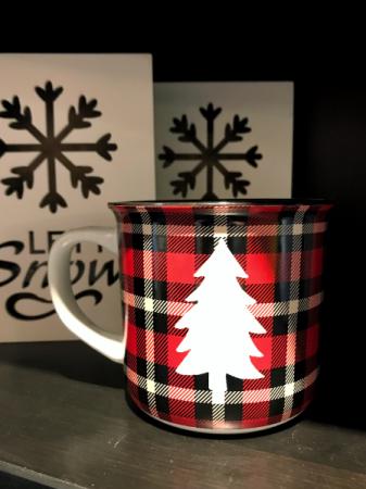 Plaid Christmas Tree Mug