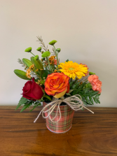 Plaid Harvest Arrangement