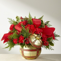 Christmas Plaid Ornament Christmas Arrangement