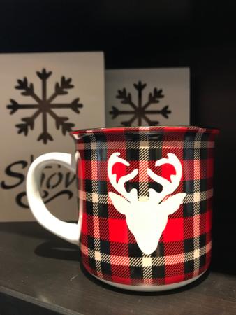 Plaid Reindeer Mug
