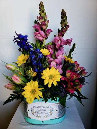 Plant Seeds Grow Blessings Fresh flower arrangement