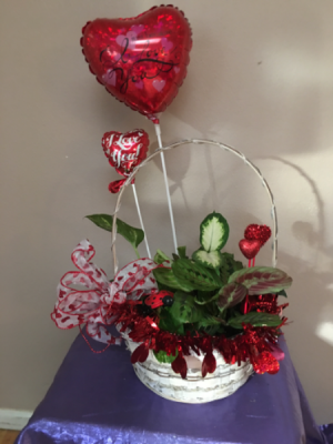 Planter of love red container in Renton, WA   Alicia's Wonderland II