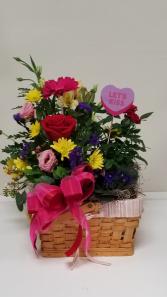 Plant/Flower Basket Valentine