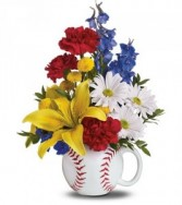 Play Ball Mixed Mug Arrangement