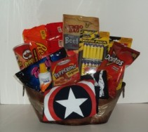 Players of Darts Snacks Gift Basket