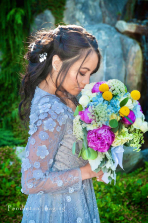 Playful Peonies Bridal Bouquet in Marysville, WA | What's Bloomin' Now Floral