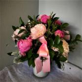 Playful Peonies Vase